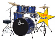 BLACK HAWK DRUM KIT SUPER STUDENT PACK