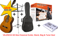 3/4 CLASSICAL GUITAR SUPER STUDENT PACK 3